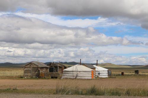 mongolia yurt steppe