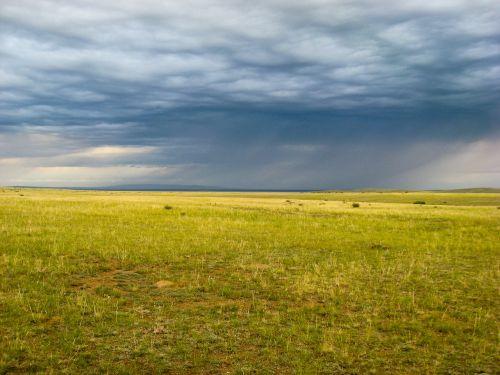 mongolia steppe rain