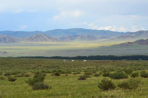 mongolia steppe yurts