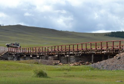mongolia bridge steppe