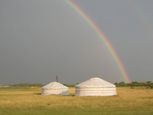 mongolia rainbow tents
