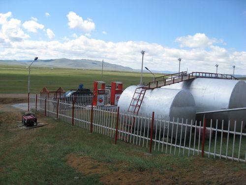 mongolia steppe service station