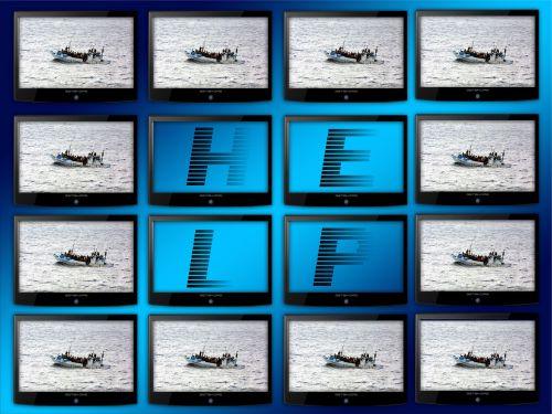 monitor monitor wall big screen