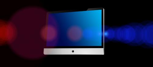 monitor light reflex