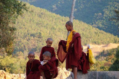 monk burma friends