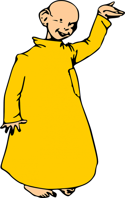 monk yellow robe boy