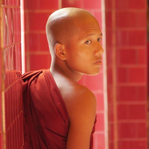 monk myanmar buddhist