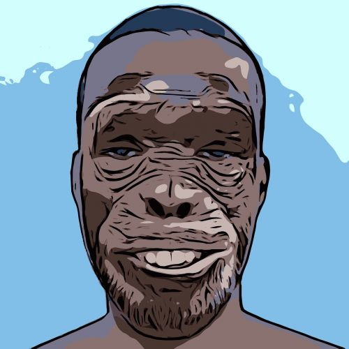 beždžionė,žmogus,profilis