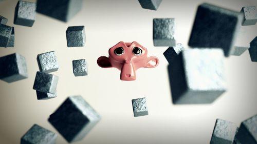 monkey cubes cartoon