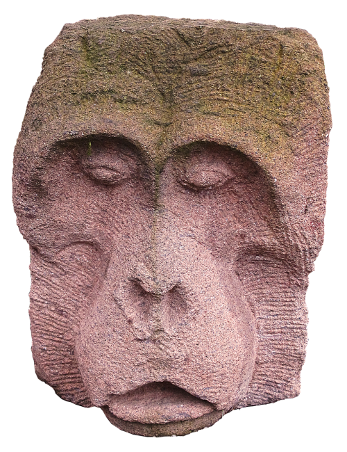 monkey stone figure sculpture