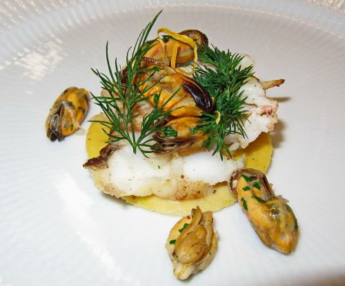 monkfish steamed poached