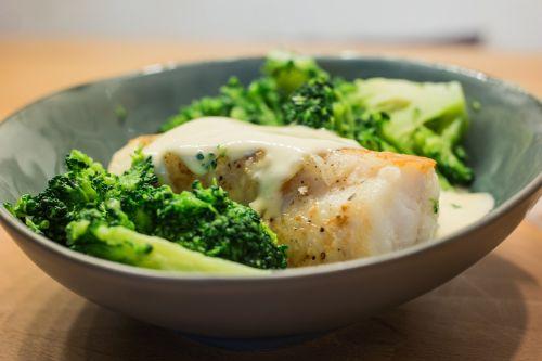 monkfish brocoli fish