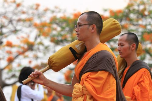 monks orange robes