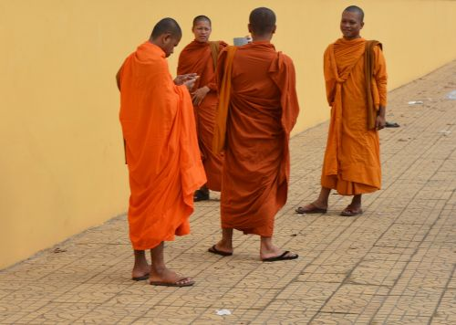 monks cambodia asia