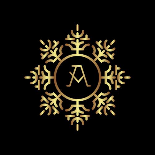 monogram letter gold