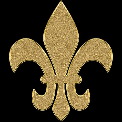 monogram  golden  ornament