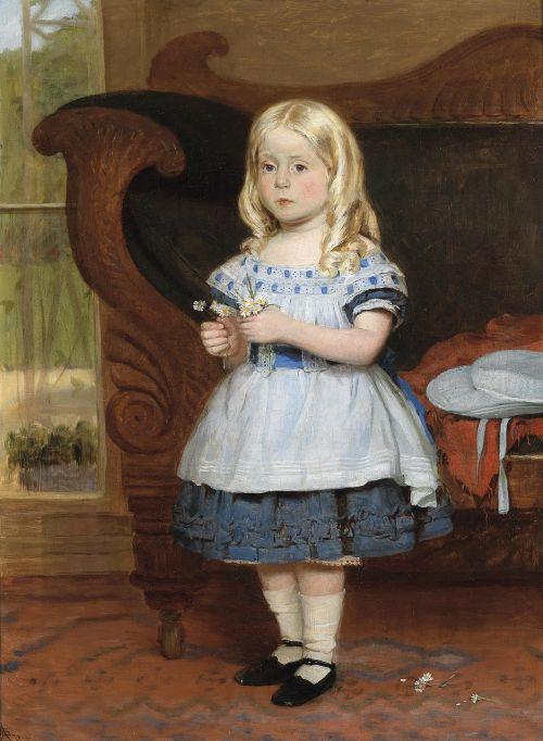monogramist as,mergaitė,vaikas,portretas,dažymas,aliejus ant drobės,menas,meno,meniškumas,mielas