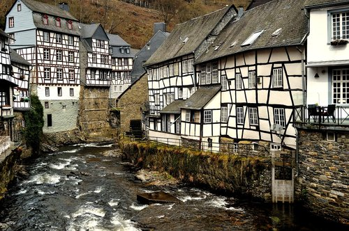 monschau  half-timbered houses  timber-framed