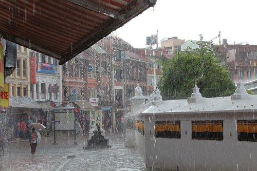 monsoon  rain  nepal