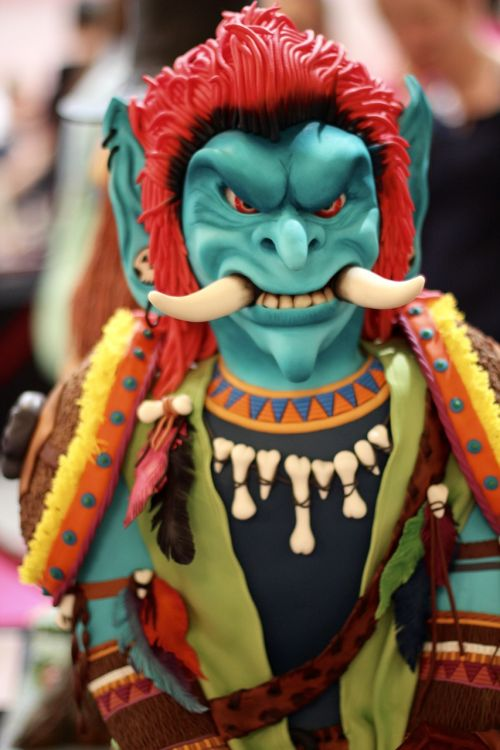 monster figure marzipan