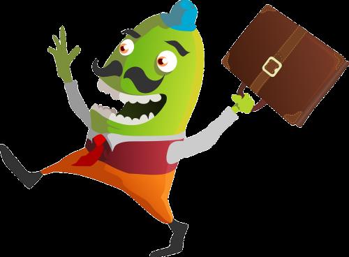 monster happy green