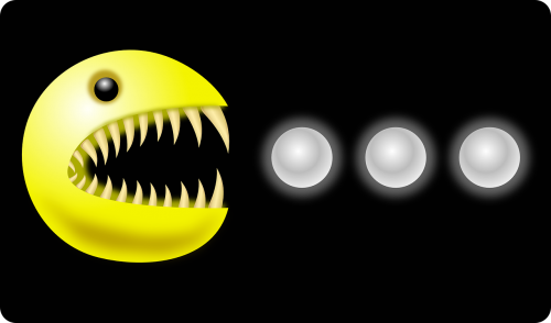 monster,teeth,pacman,pac-man,free vector graphics