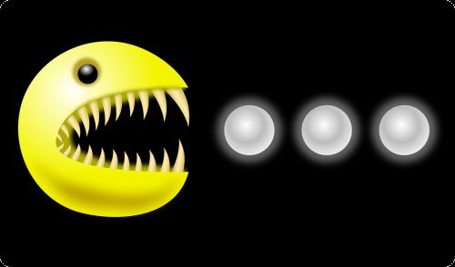 monster teeth pacman