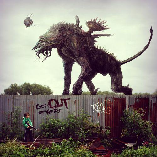 monster postapokalipsis fence