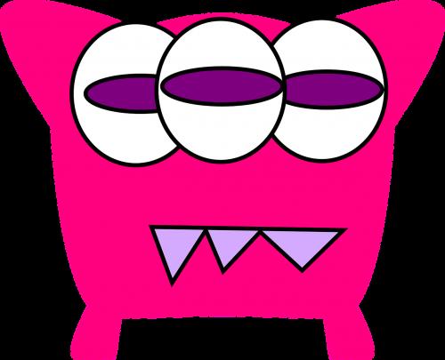 monster teeth eyes