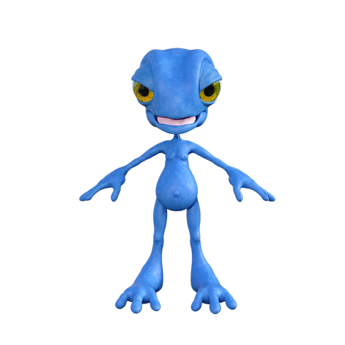 monster  blue  figure