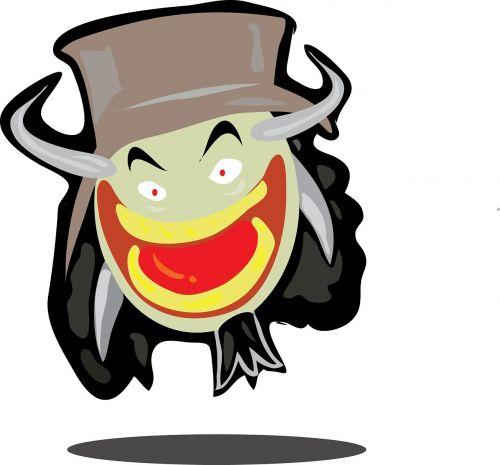monster face cartoon