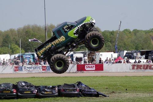 monster truck  jump  stunt