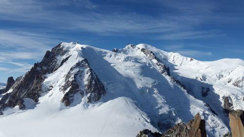 mont blanc high mountains alpine
