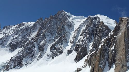 mont blanc high mountains chamonix