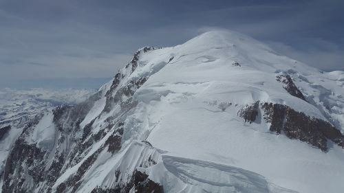 mont blanc glacier high mountains