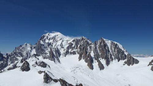 mont blanc mont maudit glacier