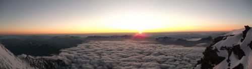 mont blanc sunset alps