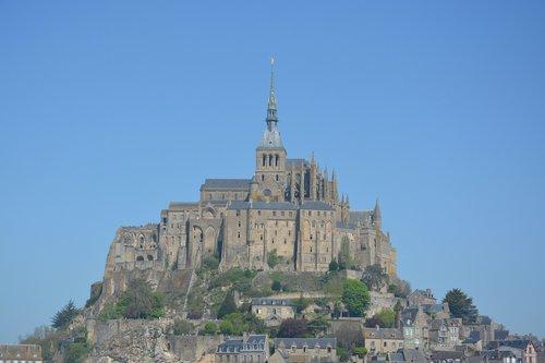 mont saint michel  common la manche normandy  normandy france
