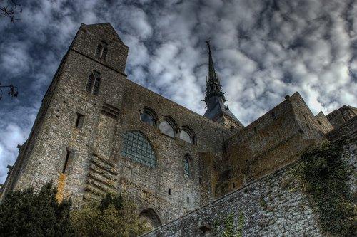 mont st michael  castle  cathedral