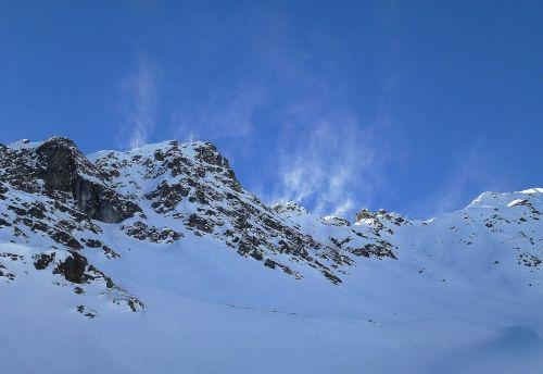 montafon mountain summit winter