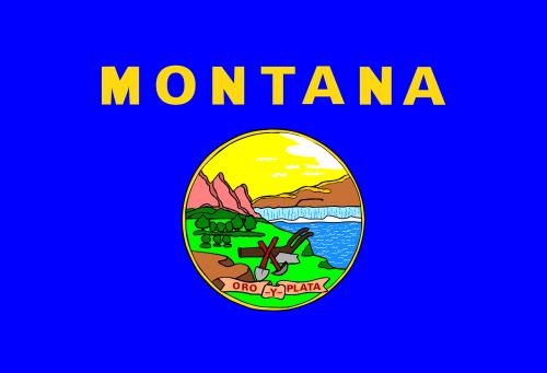 montana state flag blue