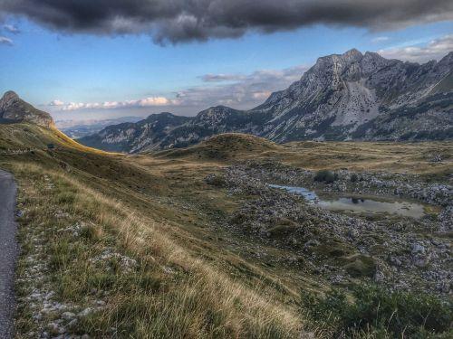 montenegro mountain landscape cloudy