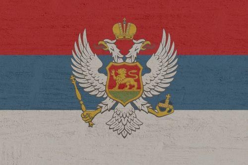 montenegro flag adriatic coast