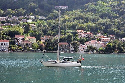 montenegro  sailboat  sea