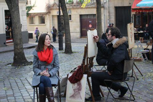 montmartre painter portrait