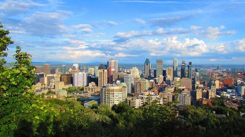 montréal  canada  urban landscape
