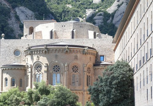montserrat  mountain monastery  church