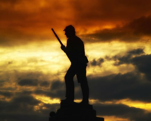 monument statue silhouette