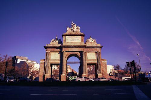 monument puerta de toledo spain
