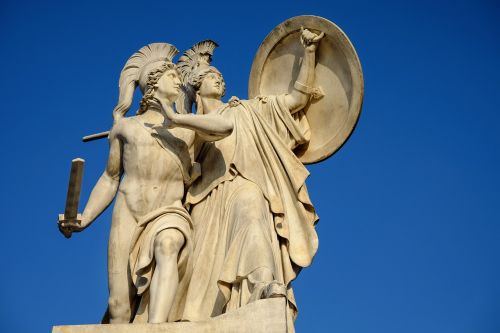 monument greek gods figures athena